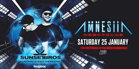 Sunset Brothers - Amnesiia Nightclub Broadbeach tickets