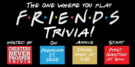 Friends Trivia! First trivia night at the winery!