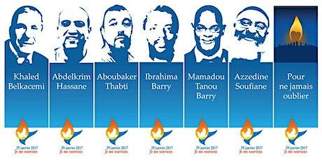3e commémoration de l'attentat contre la Grande mosquée de Québec billets