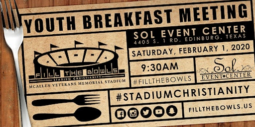 Youth/Young Adult Pastor and Leader Breakfast | Fill the Bowls