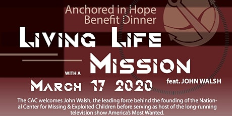 Anchored in Hope Benefit Dinner ft. John Walsh tickets