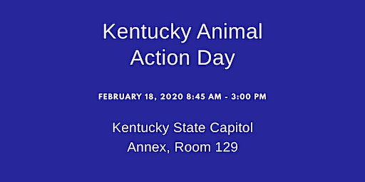 Kentucky Animal Action Day Bus from Louisville to Frankfort!