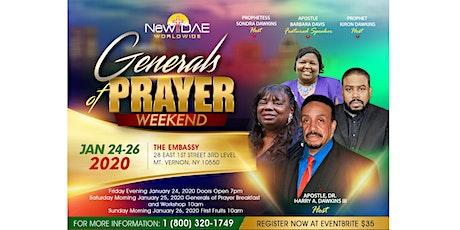 Generals of Prayer Weekend tickets