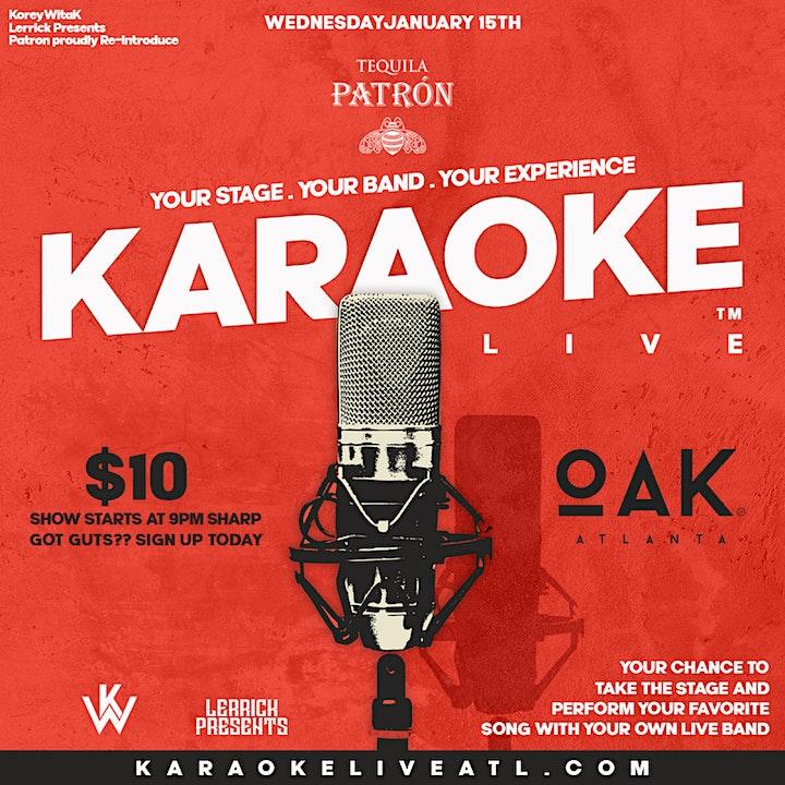 Karaoke Live ATL @ Oak Atlanta image