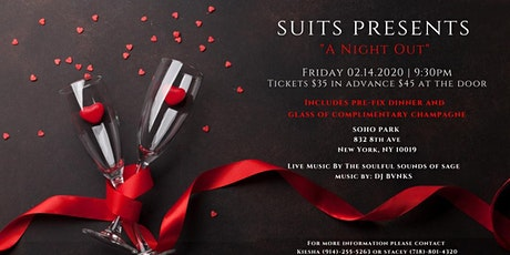 """SUITS PRESENTS """"A NIGHT OUT"""" tickets"""