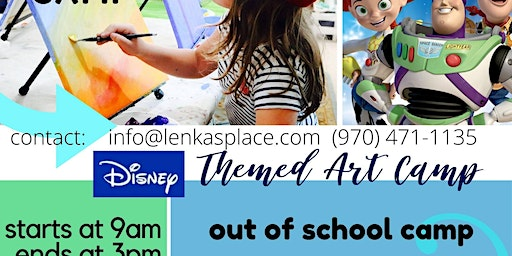 "Art Camp ""Disney painting"" day"