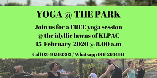 FREE Yoga@thePark at KLPAC on 15 February 2020