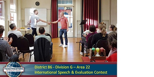 District 86 Division G - Area 22 International Speech & Evaluation Contest