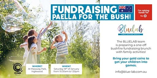 FUNDRAISING PAELLA FOR THE BUSH