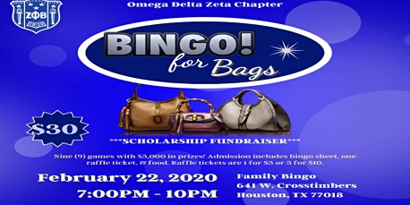 Bingo For Bags-Scholarship Fundraiser
