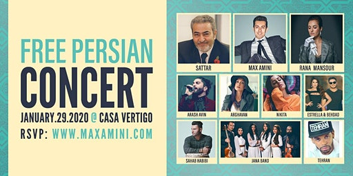 Free Persian Concert hosted by Max Amini