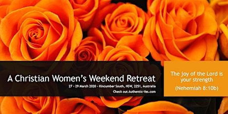 A weekend retreat of joy tickets