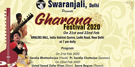Gharana Festival 2020 by Swaranjali tickets