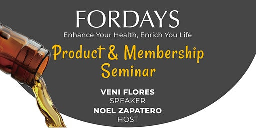 Fordays Product & Membership Seminar