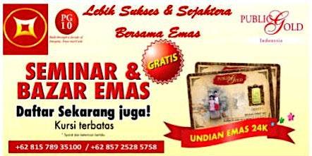 Seminar Edukasi & Bazar Emas Purwakarta