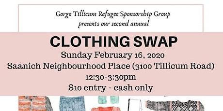 Clothing swap fundraiser tickets