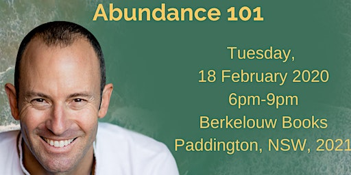 """Abundance 101"" Book Launch Sydney"