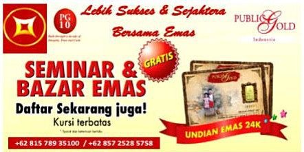 Seminar Edukasi & Bazar Emas Solo