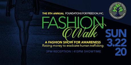 Foundations for Freedom FashionWalk 2020 tickets