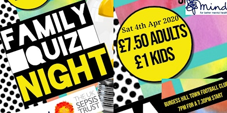 Charity Family Quiz Night tickets
