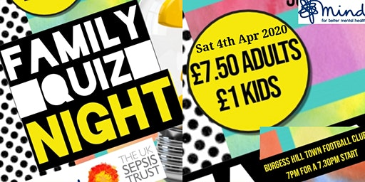 Charity Family Quiz Night