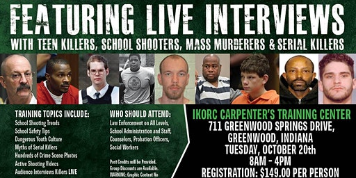 Profiling Teen Killers, School Shooters, Mass Murderers and Serial Killers by Phil Chalmers-Greenwood, Indiana-October 20, 2020