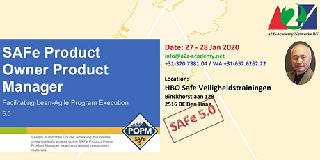 SAFe Product Owner/Product Manager POPM2003 tickets