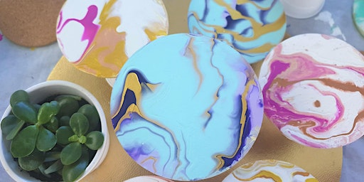 Pour Galore™ Acrylic Paint Pouring with Nibbles and Vino