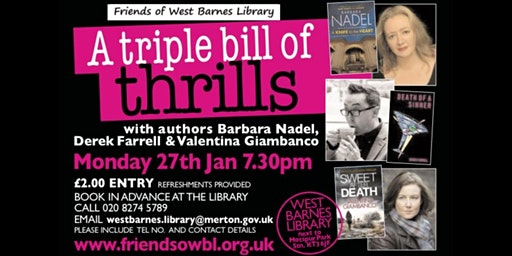 Author event -A Triple Bill of Thrills