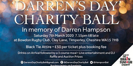 'Darren's Day' Charity Ball tickets