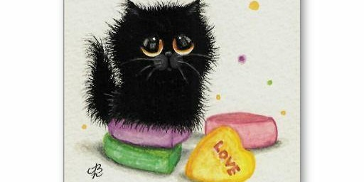 Family Art Night: Sweetheart Cat