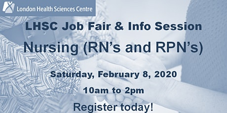 London Health Sciences Centre - Nursing Job Fair & Info Session 2020 tickets