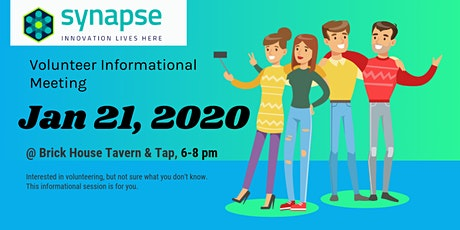 Synapse Volunteer Informational Session 1/21/2020 tickets