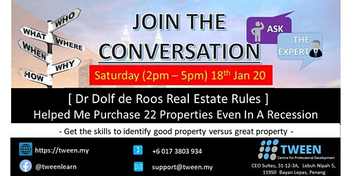 [ Dr Dolf de Roos Real Estate Rules ]  Helped Me Purchase 22 Properties Even In A Recession