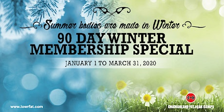 Last Chance: 90 Day Winter Membership (Chicagoland Fat Loss CHICAGO) tickets