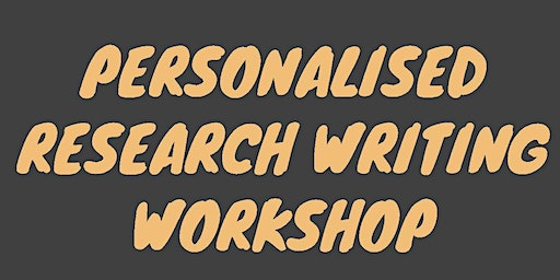 3-Day Personalized Research Writing Workshop