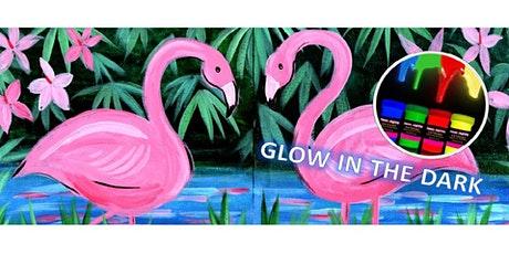 Painting and Wine Night - Glow In The Dark Flamingos tickets