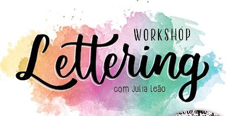 Workshop de Lettering para iniciantes - a partir de 15 anos - 1/2 ingressos