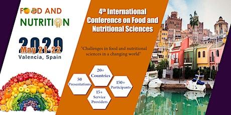 Food and Nutritional sciences 2020 | Valencia, Spain entradas