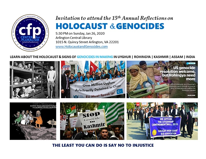 Reflections on Holocaust and Genocides image