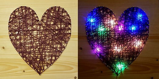 Valentine's Day Parent-and-Child String Art