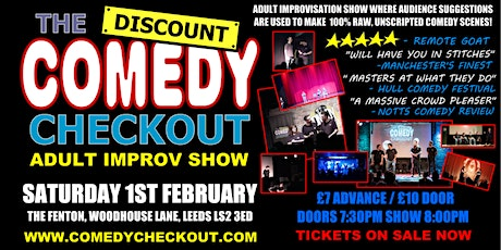 Adults Only Comedy Show - The Discount Comedy Checkout - Leeds - 1st Feb tickets