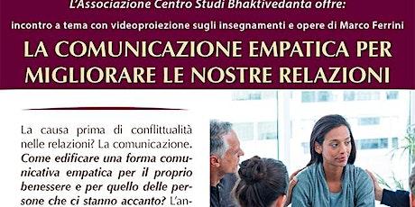 La comunicazione empatica per migliorare le nostre relazioni biglietti