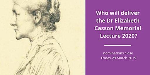 LIVE STREAM: Elizabeth Casson Memorial Lecture 2020 - Lincoln
