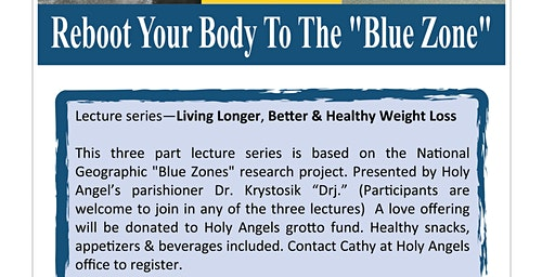 "Reboot Your Body to the ""Blue Zone"" Live Longer Better &Healthy Weight Loss"