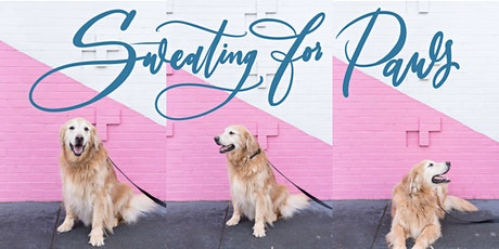 Sweating for Paws with White Ink Calligraphy tickets