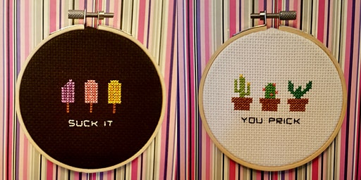 Valentine's Day Offensive Cross Stitch