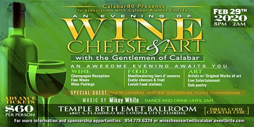 An Evening of Wine, Cheese and Art with the Gentlemen of Calabar