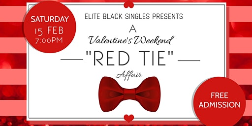 "Single & Ready to Mingle Valentine's Party: A ""Red Tie Affair"""