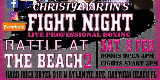 Christy Martin's Fight Night-Battle at the Beach II-Daytona Beach FL